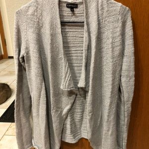 Express light gray cardigan with silver detailing